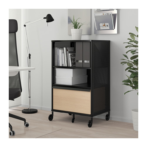 BEKANT - storage unit with smart lock, mesh black | IKEA Hong Kong and Macau - PE713925_S4