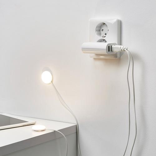 HALVKLART - LED櫃燈, 白色 | IKEA 香港及澳門 - PE810172_S4