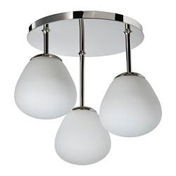 DEJSA - 三頭天花燈, 鍍鉻/奶白色 玻璃   IKEA 香港及澳門 - PE810175_S3