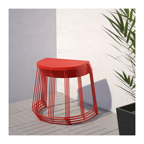 TRANARÖ - stool/side table, in/outdoor, red | IKEA Hong Kong and Macau - PE714017_S4