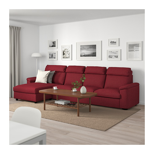 LIDHULT - 4-seat sofa, with chaise longue/Lejde red-brown   IKEA Hong Kong and Macau - PE714049_S4