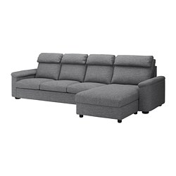 LIDHULT - 4-seat sofa, with chaise longue/Lejde grey/black | IKEA Hong Kong and Macau - PE714051_S3