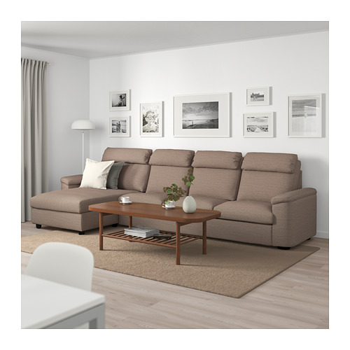 LIDHULT - 4-seat sofa, with chaise longue/Lejde beige/brown | IKEA Hong Kong and Macau - PE714055_S4