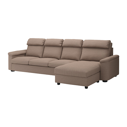 LIDHULT - 4-seat sofa, with chaise longue/Lejde beige/brown | IKEA Hong Kong and Macau - PE714054_S4