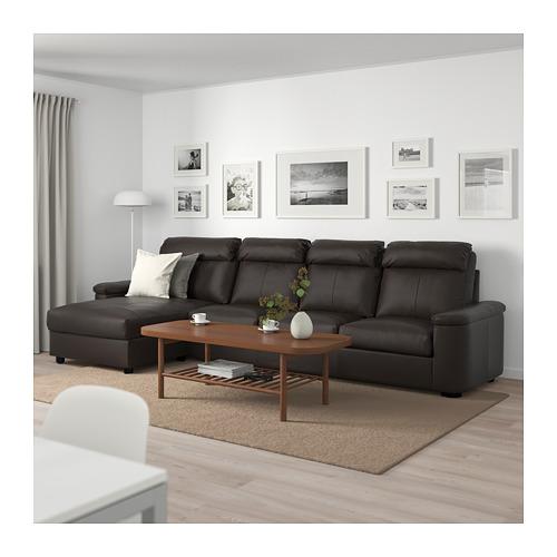 LIDHULT - 4-seat sofa, with chaise longue/Grann/Bomstad dark brown | IKEA Hong Kong and Macau - PE714057_S4