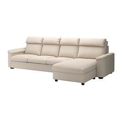 LIDHULT - 四座位梳化, 連躺椅/Gassebol 淺米黃色 | IKEA 香港及澳門 - PE714073_S3