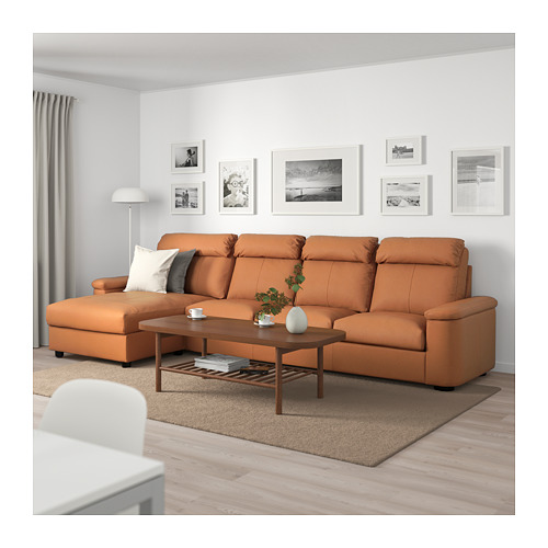LIDHULT - 4-seat sofa, with chaise longue/Grann/Bomstad golden-brown   IKEA Hong Kong and Macau - PE714081_S4
