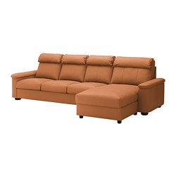 LIDHULT - 4-seat sofa, with chaise longue/Grann/Bomstad golden-brown | IKEA Hong Kong and Macau - PE714080_S3