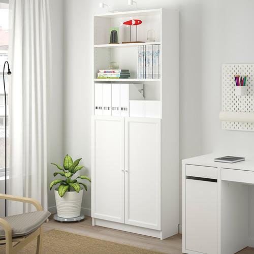 BILLY/OXBERG - 連門書架, 白色 | IKEA 香港及澳門 - PE714094_S4