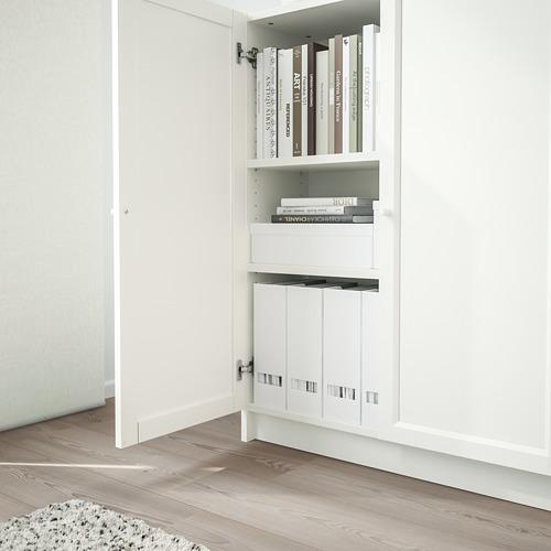 BILLY/OXBERG - 連門書架, 白色 | IKEA 香港及澳門 - PE714124_S4