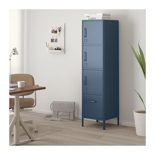 IDÅSEN - high cabinet with drawer and doors, blue | IKEA Hong Kong and Macau - PE714159_S4