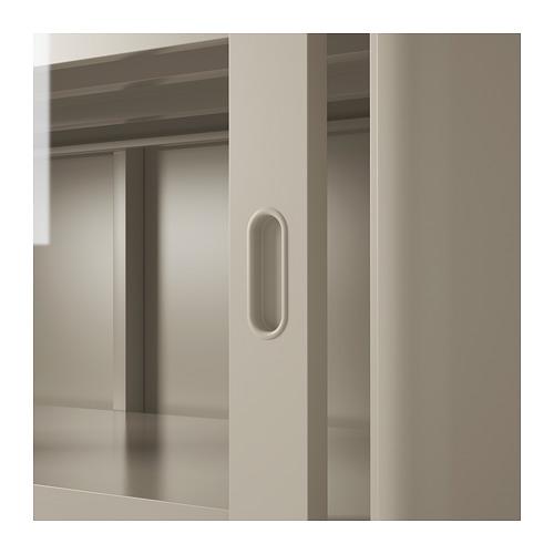 IDÅSEN - cabinet with sliding glass doors, beige | IKEA Hong Kong and Macau - PE714185_S4