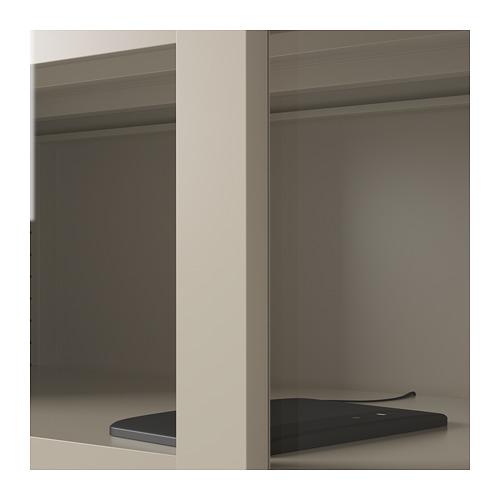 IDÅSEN - cabinet with sliding glass doors, beige | IKEA Hong Kong and Macau - PE714183_S4