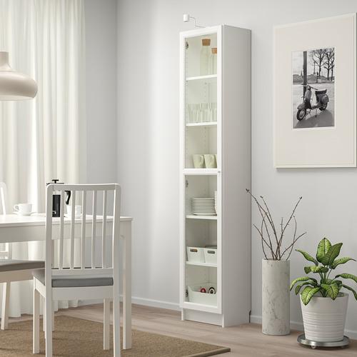 BILLY/OXBERG - 玻璃門書櫃, 白色/玻璃   IKEA 香港及澳門 - PE714191_S4