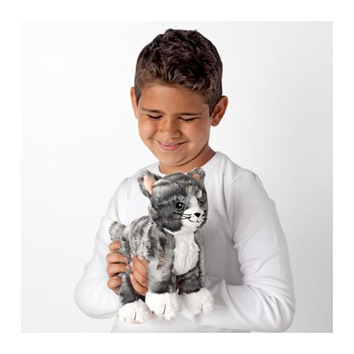 LILLEPLUTT - 毛公仔, 貓 灰色/白色 | IKEA 香港及澳門 - PE611139_S4