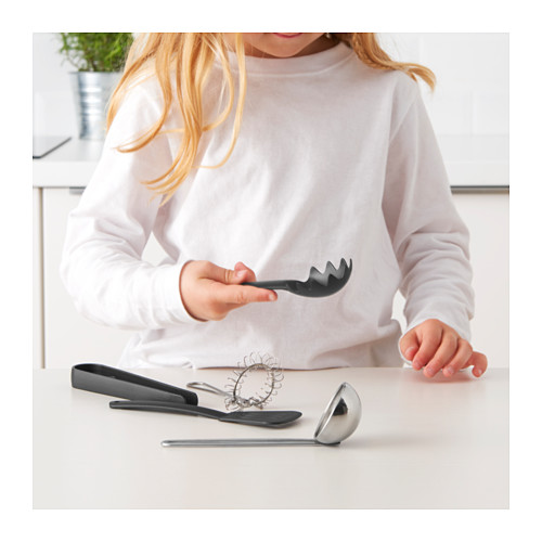 DUKTIG 5-piece toy kitchen utensil set