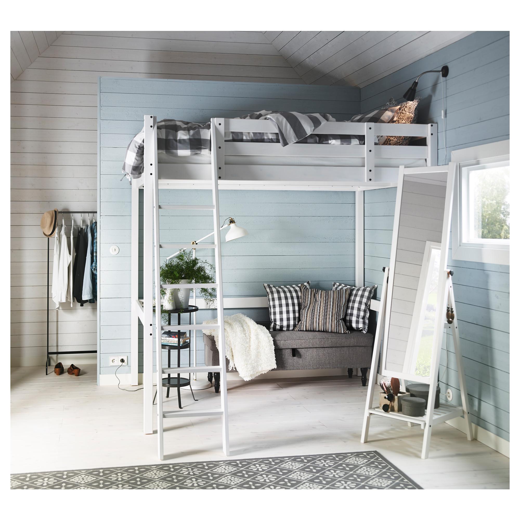 StorÅ Loft Bed Frame White Stain Ikea Hong Kong