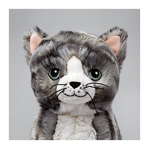 LILLEPLUTT - 毛公仔, 貓 灰色/白色 | IKEA 香港及澳門 - PE611260_S4