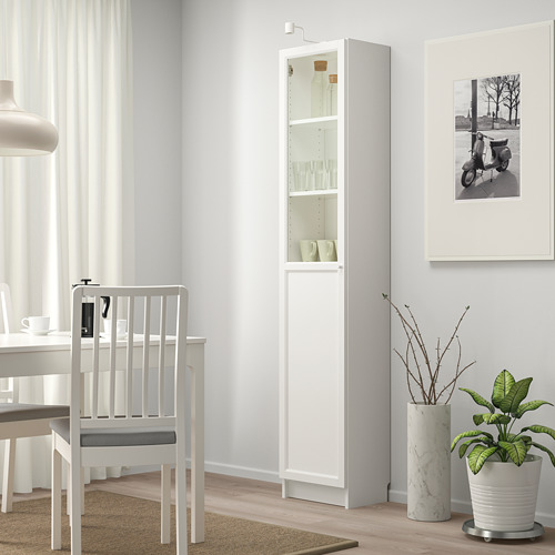 BILLY/OXBERG - 玻璃門書櫃組合, 白色/玻璃   IKEA 香港及澳門 - PE714279_S4