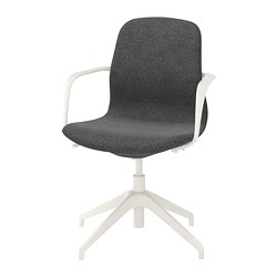 LÅNGFJÄLL - conference chair with armrests, gunnared dark grey/white | IKEA Hong Kong and Macau - PE665419_S3
