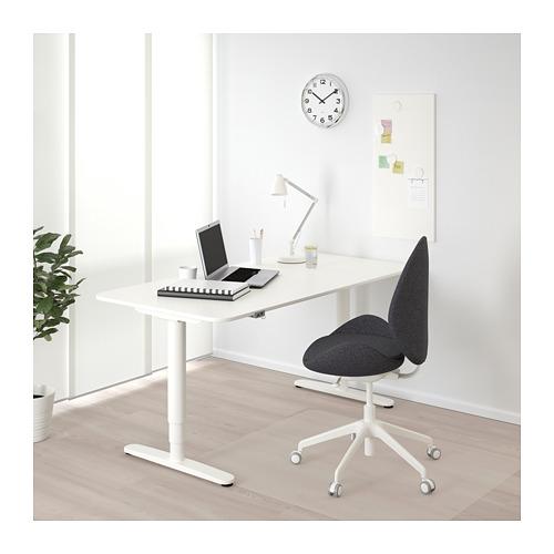 BEKANT - 升降式書檯, 160x80cm, 白色 | IKEA 香港及澳門 - PE714377_S4