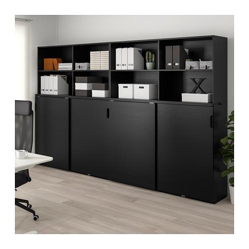 GALANT - 貯物組合連趟門, 染黑梣木飾面 | IKEA 香港及澳門 - PE714415_S4