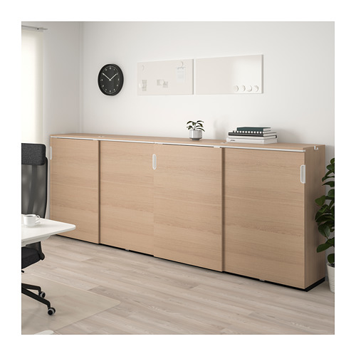 GALANT - 貯物組合連趟門, 染白橡木飾面 | IKEA 香港及澳門 - PE714423_S4
