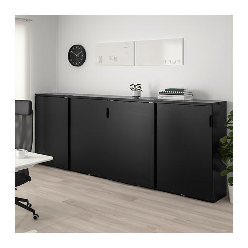 GALANT - 貯物組合連趟門, 染黑梣木飾面 | IKEA 香港及澳門 - PE714422_S4