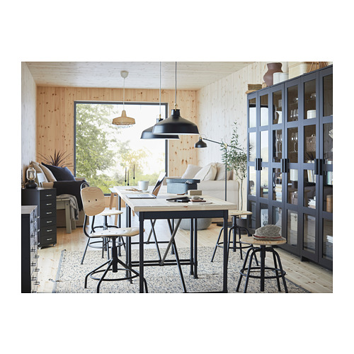 KULLABERG - swivel chair, pine/black | IKEA Hong Kong and Macau - PH153168_S4