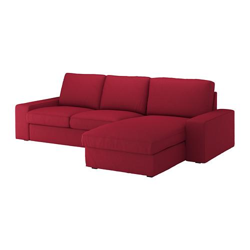 KIVIK - 3-seat sofa, with chaise longue/Orrsta red | IKEA Hong Kong and Macau - PE667158_S4