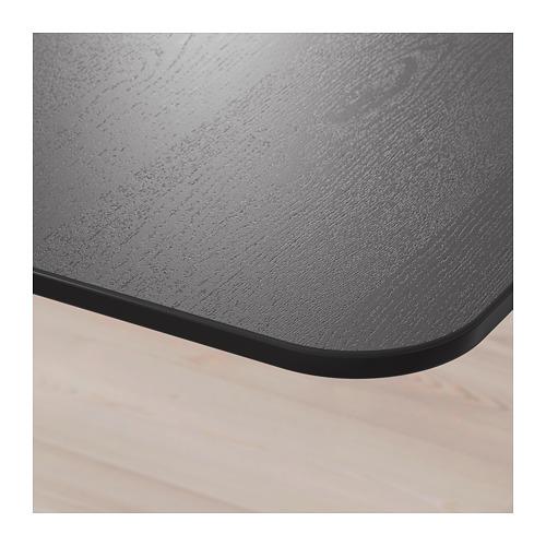 BEKANT - 書檯, 140x60cm, 染黑梣木飾面/黑色 | IKEA 香港及澳門 - PE714450_S4