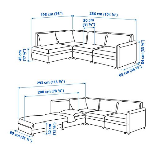 VALLENTUNA - modular corner sofa 3-seat+sofa-bed, and storage/Kelinge anthracite | IKEA Hong Kong and Macau - PE810478_S4