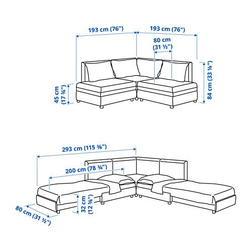 VALLENTUNA - 梳化床組合, 連貯物/Kelinge 炭黑色 | IKEA 香港及澳門 - PE810479_S4