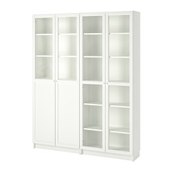 BILLY/OXBERG - bookcase with panel/glass doors, white/glass | IKEA Hong Kong and Macau - PE714604_S3