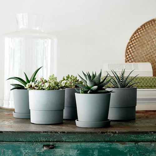 NYPON - plant pot, in/outdoor grey | IKEA Hong Kong and Macau - PE754532_S4