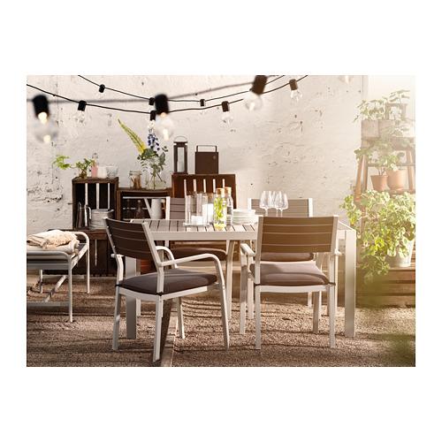 SJÄLLAND - 戶外檯連扶手椅組合, 深灰色/Frösön/Duvholmen 深灰色 | IKEA 香港及澳門 - PE714648_S4