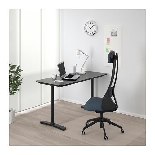BEKANT - 書檯, 140x60cm, 染黑梣木飾面/黑色 | IKEA 香港及澳門 - PE714682_S4