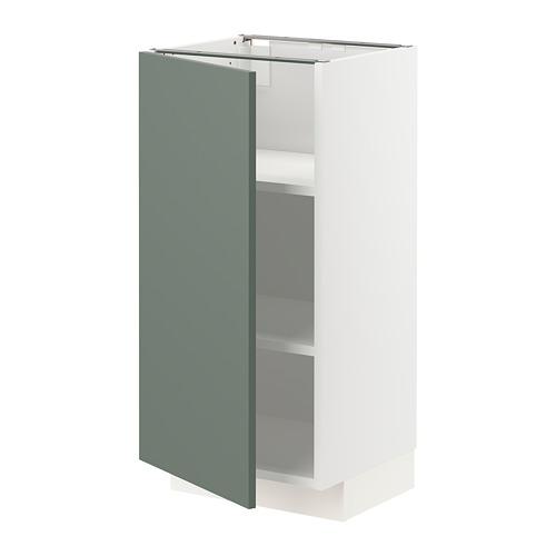METOD - base cabinet with shelves, white/Bodarp grey-green | IKEA Hong Kong and Macau - PE754649_S4