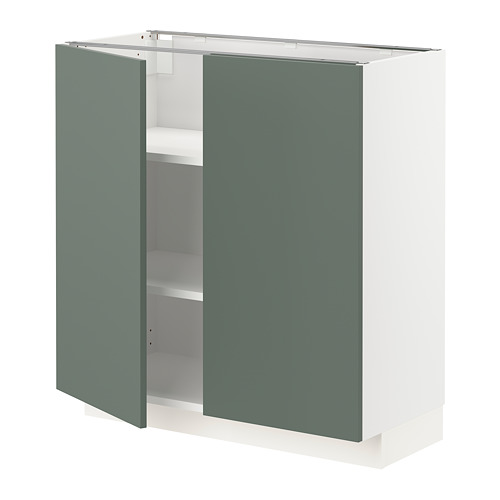 METOD - 地櫃連層板/一對門, 白色/Bodarp 灰綠色 | IKEA 香港及澳門 - PE754651_S4