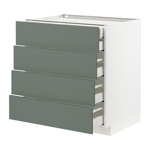 METOD/MAXIMERA - base cb 4 frnts/2 low/3 md drwrs, white/Bodarp grey-green | IKEA Hong Kong and Macau - PE754662_S4