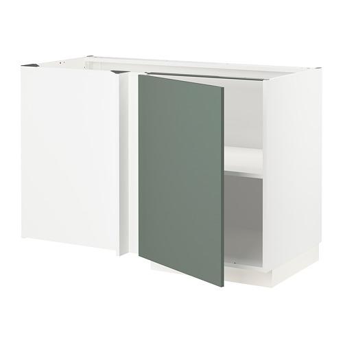 METOD - corner base cabinet with shelf, white/Bodarp grey-green | IKEA Hong Kong and Macau - PE754669_S4