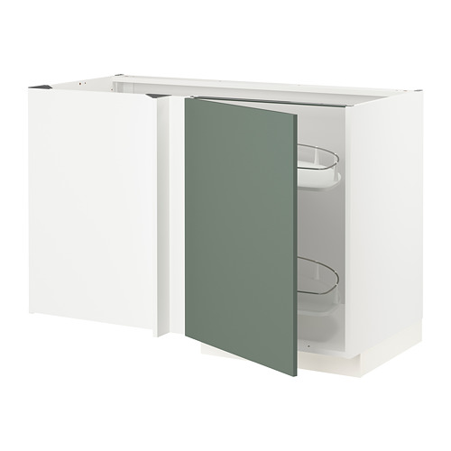 METOD - corner base cab w pull-out fitting, white/Bodarp grey-green | IKEA Hong Kong and Macau - PE754670_S4