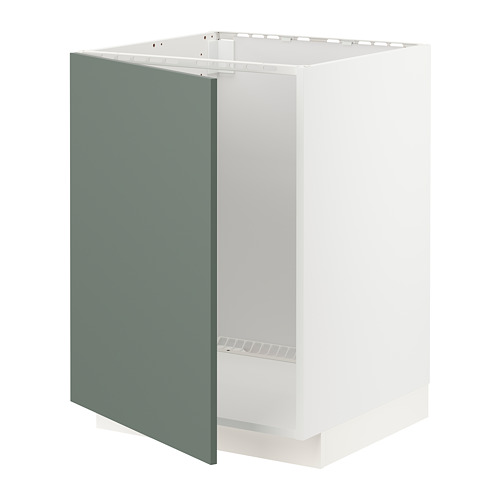 METOD - base cabinet for sink, white/Bodarp grey-green | IKEA Hong Kong and Macau - PE754672_S4