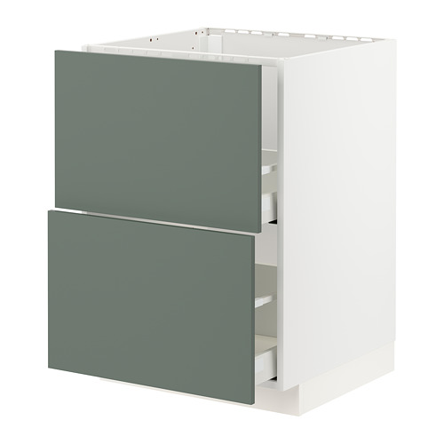 METOD/MAXIMERA 星盆用地櫃連2面板/2抽屜