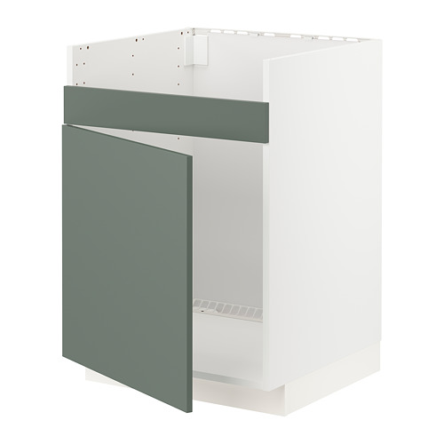 METOD - base cab f HAVSEN single bowl sink, white/Bodarp grey-green | IKEA Hong Kong and Macau - PE754678_S4