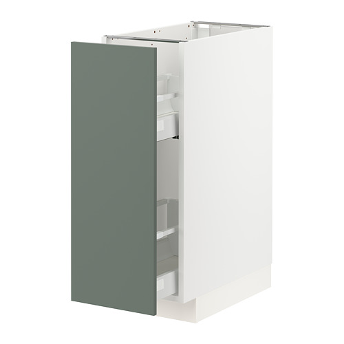 METOD/MAXIMERA - base cabinet/pull-out int fittings, white/Bodarp grey-green | IKEA Hong Kong and Macau - PE754690_S4