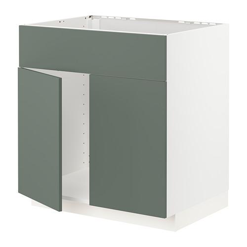 METOD - 星盆用地櫃連一對門/面板, white/Bodarp grey-green | IKEA 香港及澳門 - PE754693_S4