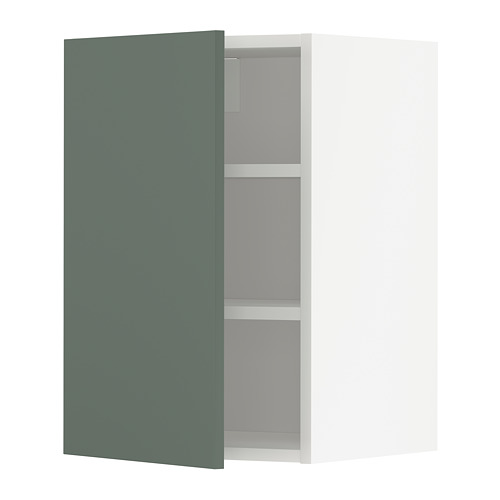 METOD - wall cabinet with shelves, white/Bodarp grey-green | IKEA Hong Kong and Macau - PE754698_S4
