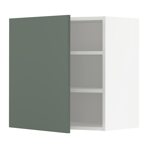 METOD - wall cabinet with shelves, white/Bodarp grey-green | IKEA Hong Kong and Macau - PE754699_S4