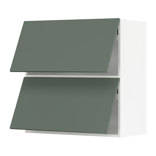 METOD - wall cab horizo 2 doors w push-open, white/Bodarp grey-green | IKEA Hong Kong and Macau - PE754720_S4